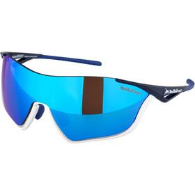 Red Bull SPECT Flow Okulary przeciwsłoneczne, matte white/matte blue/smoke-blue